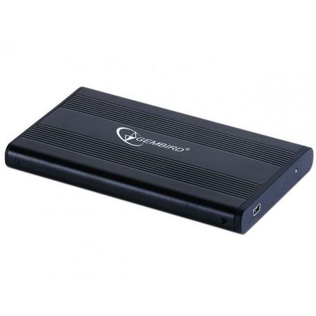 """OBUDOWA HDD ZEWNĘTRZNA GEMBIRD SATA 2.5"""" USB 2.0 ALUMINIUM CZARNA EE2-U2S-5"""