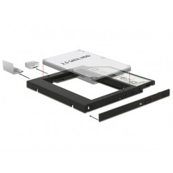 "ADAPTER HDD RAMKA 5.25""- 2.5"" SLIM 9.5MM ( HDD W MIEJSCE CD/DVD W LAPTOPIE) DELOCK"