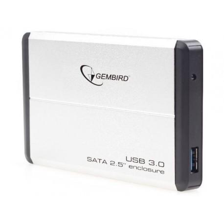 """OBUDOWA HDD ZEWNĘTRZNA GEMBIRD SATA 2.5"""" USB 3.0 SREBRNA"""