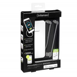 POWER BANK INTENSO S5000 5000MAH BIAŁY+LIGHTNING