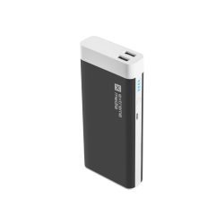 POWER BANK EXTREME MEDIA NPB-1224 10000MAH CZARNO-BIAŁA