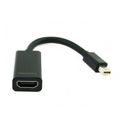 ADAPTER DISPLAYPORT MINI(M)- HDMI(F) NA KABLU BLACK GEMBIRD