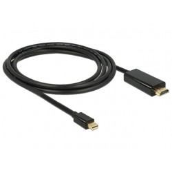 KABEL DISPLAYPORT MINI(M) V1.1A- HDMI(M) 2M CZARNY DELOCK