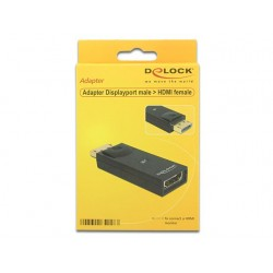 ADAPTER DISPLAYPORT(M)- HDMI(F) DELOCK