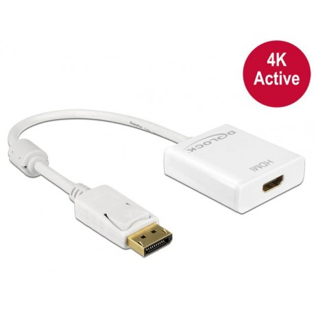 ADAPTER DISPLAYPORT- HDMI AKTYWNY 4K WHITE