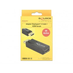 ADAPTER DISPLAYPORT 1.2- HDMI AKTYWNY 4K BLACK