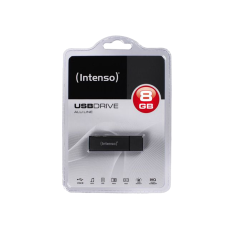 PENDRIVE INTENSO 8GB ALU LINE ANTHRACITE