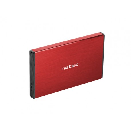 """OBUDOWA HDD/SSD ZEWNĘTRZNA NATEC RHINO GO SATA 2.5"""" USB 3.0 CZERWONA"""