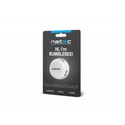 HUB USB 2.0 NATEC BUMBLEBEE 4-PORTY BIAŁY