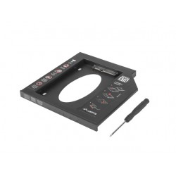 "ADAPTER HDD RAMKA 5.25""- 2.5"" SLIM 9.5MM ( HDD W MIEJSCE CD/DVD W LAPTOPIE) LANBERG"