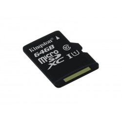 Karta pamięci KINGSTON Micro SDHC 64GB bez adaptera, class 10 (SDCS/64GBSP)