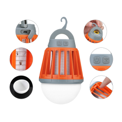 LAMPKA LED UV NA KOMARY I INNE OWADY MT5702 MOBILNA