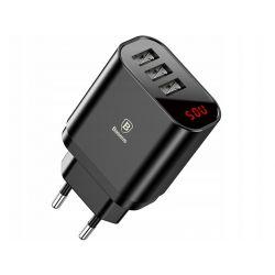 BASEUS Ładowarka sieciowa 230V 3X USB (CCALL-BH01) Black