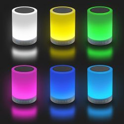 LIGHTBOX BT – Głośnik bluetooth 3W z lampką LED, dotykowe przełączanie światła, Bluetooth 3.0 + EDR, MP3, mikrofon, akumulator