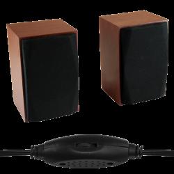 WOOD-X - Głośniki stereofoniczne 10W RMS, zasilane z portu USB, drewniane obudowy