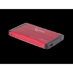 """OBUDOWA HDD ZEWNĘTRZNA SATA GEMBIRD 2.5"""" USB 3.0 RED"""