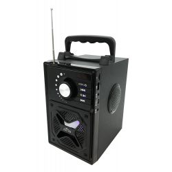 BOOMBOX BT NEXT - Kompaktowy głośnik 2.1 Bluetooth 5.0 z wbudowanym wooferem, RMS 15W, PMPO 600W, radio FM, uchwyt do smartfona,