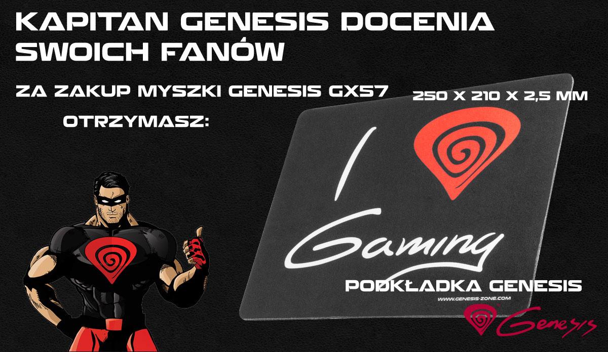 MYSZ GENESIS GX57 OPTO GAMING 4000DPI