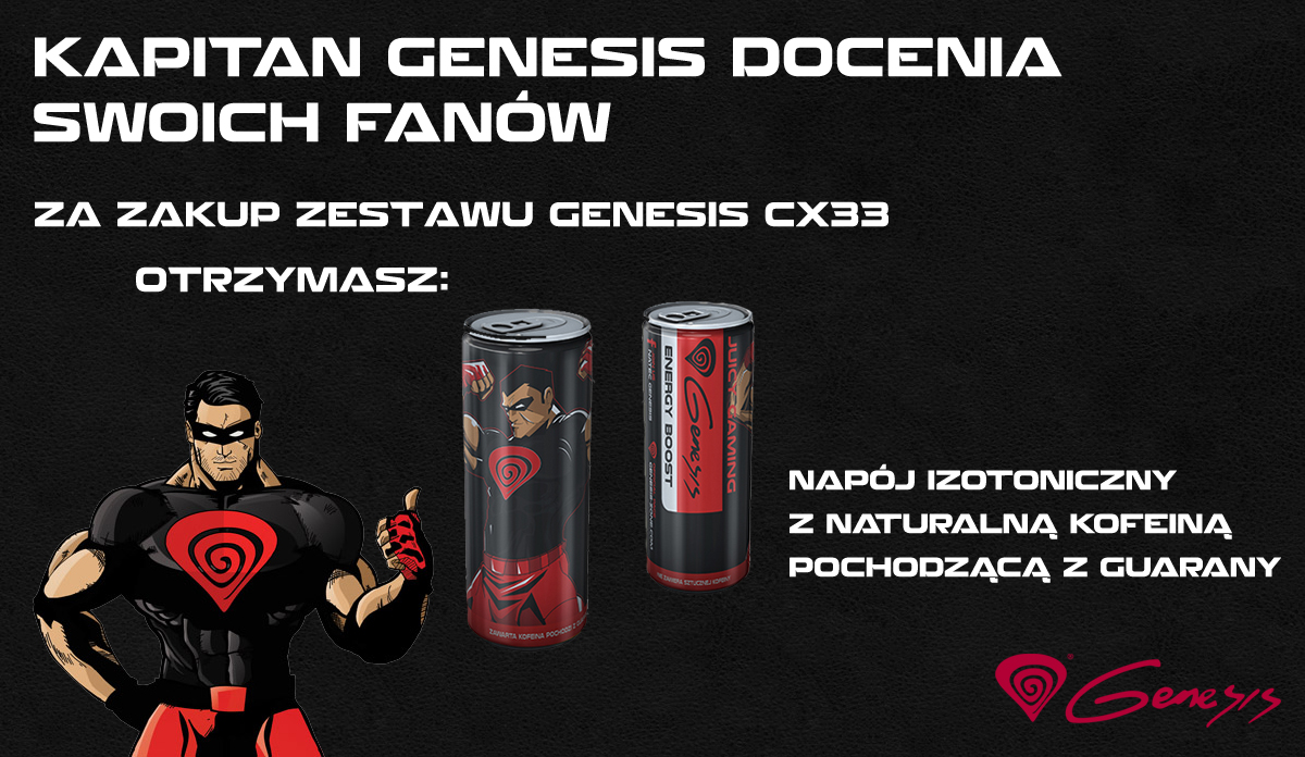 ZESTAW NATEC GENESIS CX33 DLA GRACZY